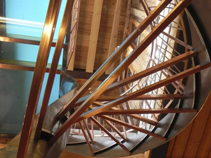 Progettazione Scale A Chiocciola : Scala di vetro scala di vetro e acciaio scale a chiocciola di