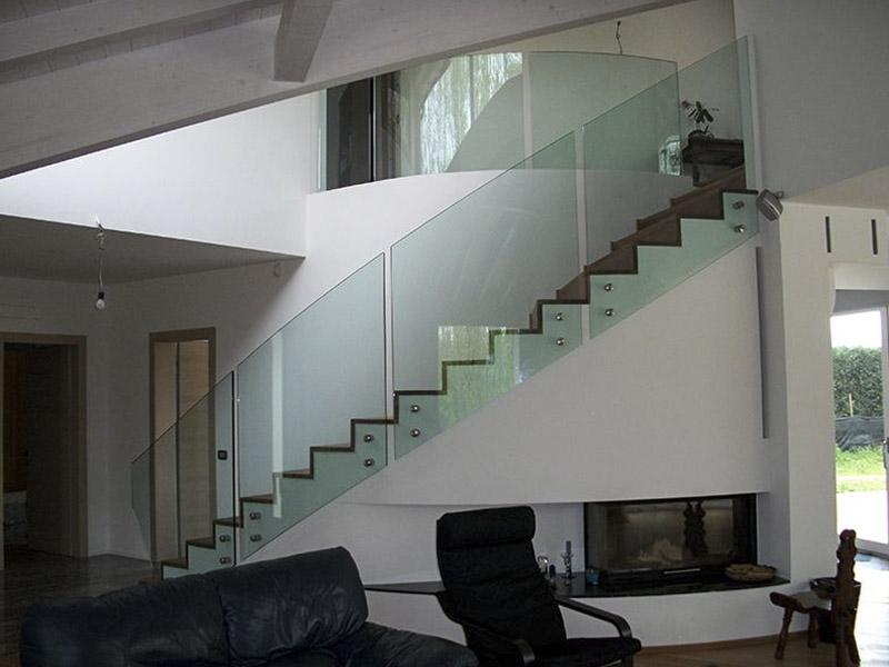 Ringhiere in vetro per interni ed esterni di classe metalvetro di de cecco fabio - Ringhiere in vetro per scale interne prezzi ...